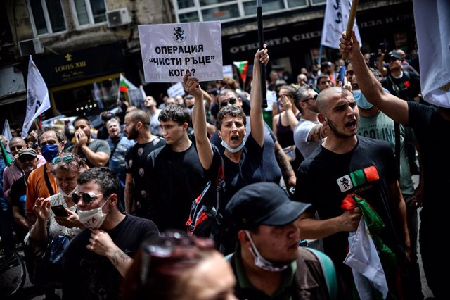 Bulgaria.- Detenidas más de 60 personas durante la protestas para exigir la dimi