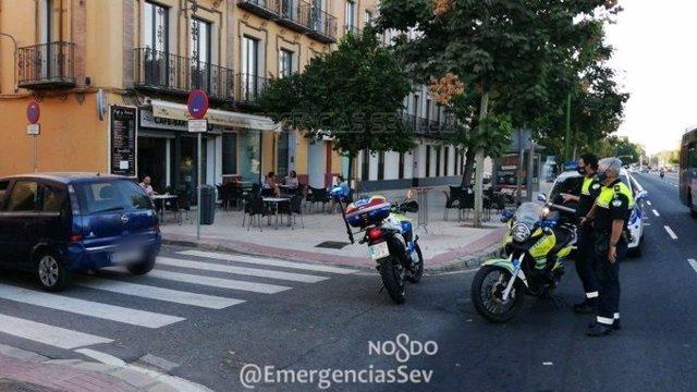 Intervención ante el atropello de una mujer en Menéndez Pelayo