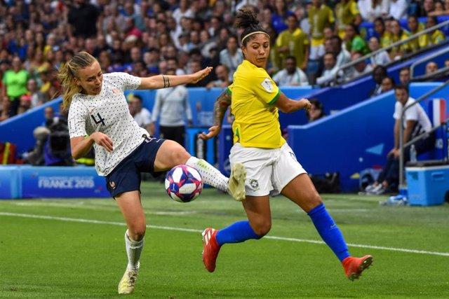 Imagen del partido entre las selecciones de Francia y Brasil de la Copa del Mundo de 2019
