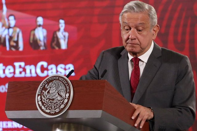 31 August 2020, Mexico, Mexico City: Mexican PresidentAndres Manuel Lopez Obrador speaks during his daily press conference at the National Palace. Photo: -/El Universal via ZUMA Wire/dpa
