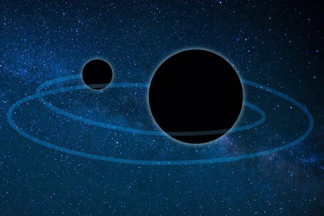 Insólita fusión 'jerárquica' entre agujeros negros
