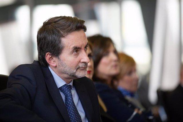 El consejero delegado de Repsol, Josu Jon Imaz, durante la clausura de la jornada de UGT 'Salvemos la industria. Claves para el desarrollo industrial', en el edificio Kutxabank Salburua, en Vitoria/Euskadi/España a 16 de enero de 2020.
