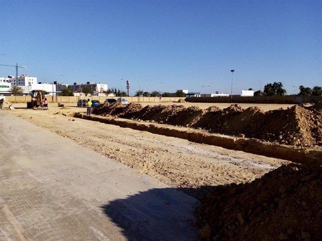 Inicio de las obras para el campo de fútbol en El Torrejón.