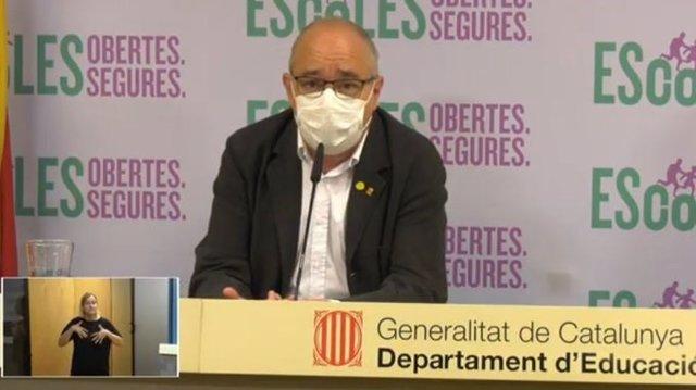 El conseller Josep Bargalló, en l'acte d'inici de curs
