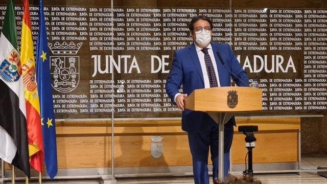 José María Vergeles en rueda de prensa.