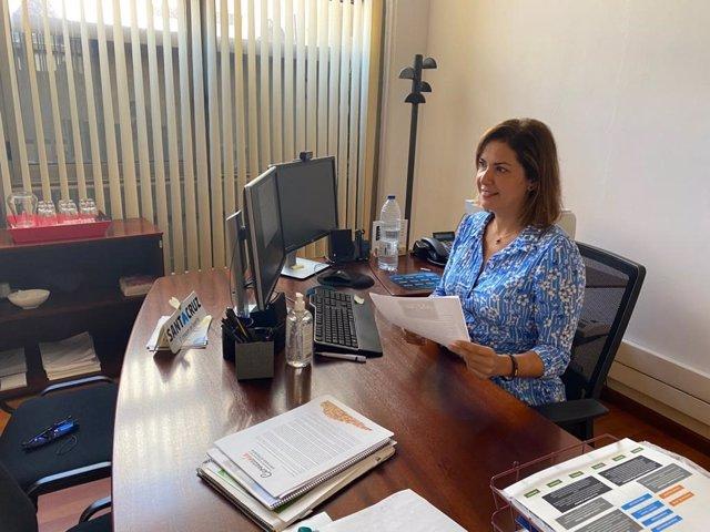 La concejal de Desarrollo Económico del Ayuntamiento de Santa Cruz de Tenerife, Evelyn Alonso