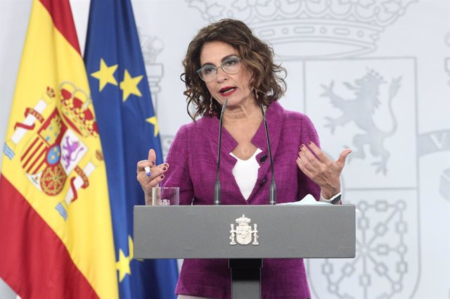 La ministra d'Hisenda, María Jesús Montero. La Moncloa, Madrid (Espanya), 3 de setembre del 2020.