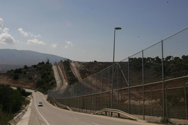 Valla fronteriza entre Melilla y Marruecos, en una imagen de archivo