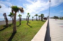 Paseo marítimo de Torre del Mar, en Vélez-Málaga