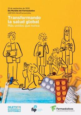 Cartel Dia Mundial del Farmaceutico 2020