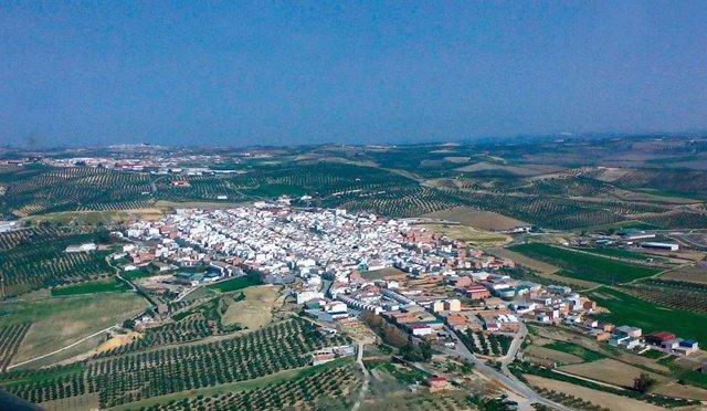 Vista aérea de Montalbán de Córdoba.