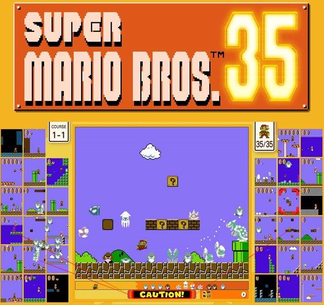 Super Mario se convierte en un 'battle royale' de 35 jugadores con Super Mario B