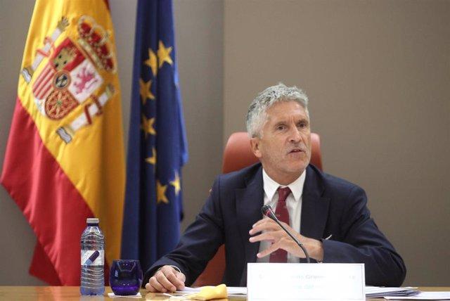 El ministro del Interior, Fernando Grande-Marlaska, presenta el Balance de Siniestralidad Vial del verano 2020 en la Dirección General de Tráfico, en Madrid (España), a 3 de septiembre de 2020.