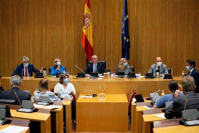 La Comisión de Asuntos Económicos del Congreso, durante la comparecencia de la vicepresidenta Nadia Calviño.