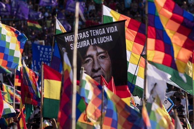 Manifestación en apoyo a Evo Morales en Buenos Aires