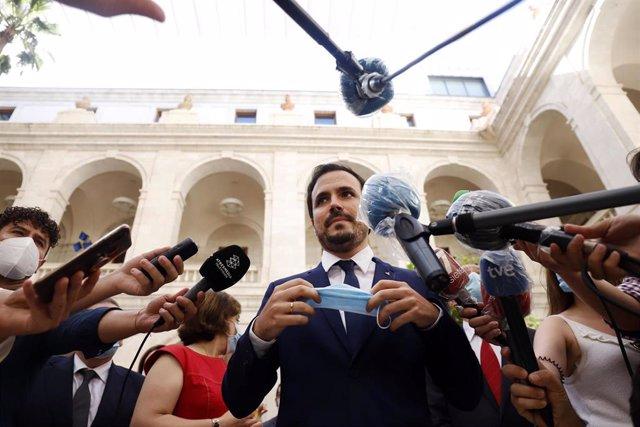 El ministro de Consumo, Alberto Garzón, en una foto de archivo