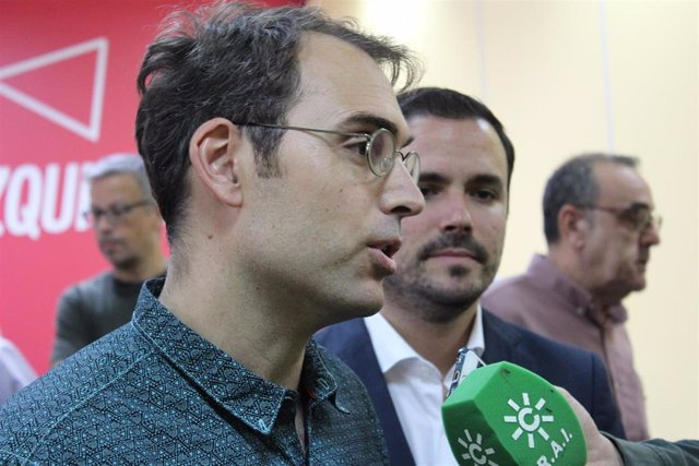 El coordinador general de IU Andalucía, Toni Valero, en una foto de archivo.