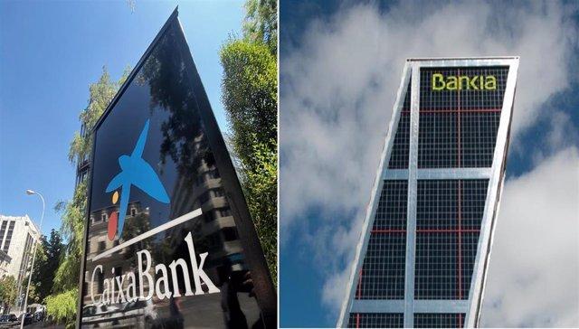 Sedes de Caixabank y Bankia