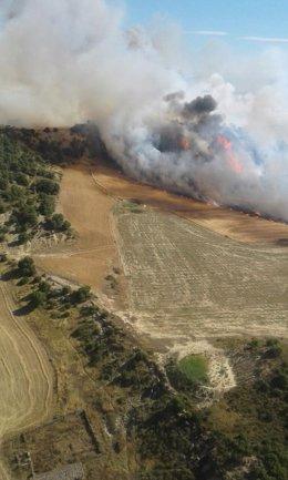 Incendio en el municipio de Sábada.