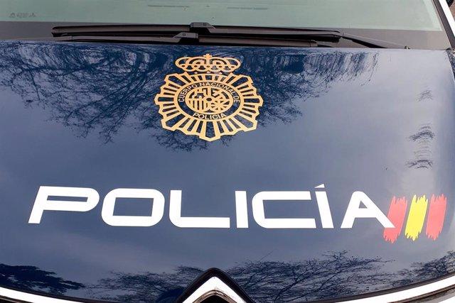 Un cotxe patrulla de la Policia Nacional.