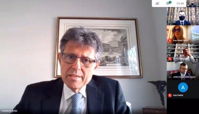 Humberto Arnés, director general de Farmaindustria, durante su intervención en la jornada