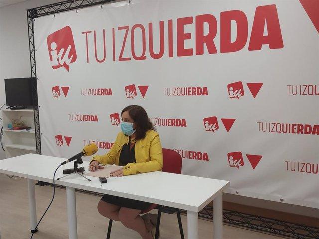 La diputada regional de IU, Henar Moreno