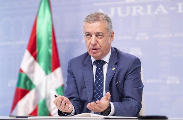 El Lehendakari, Iñigo Urkullu, en la conferencia de presidentes autonómicos vía telemática