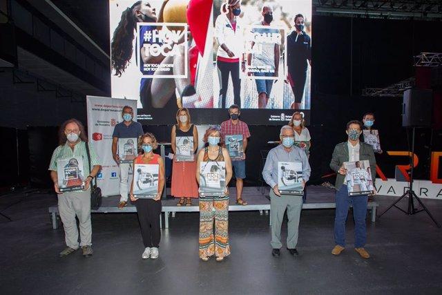 Presentación de la campaña con la consejera Esnaola, el director gerente del IND, Miguel Pozueta, personal del IND e integrantes de la Mesa de la Desescalada del Deporte