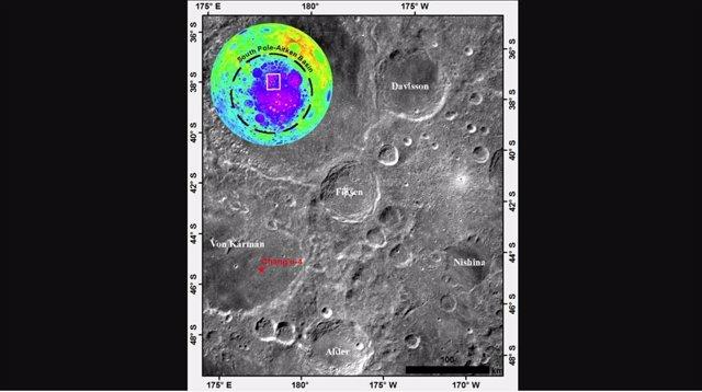 Un cráter en la cara oculta lunar, datado en 3.500 millones de años