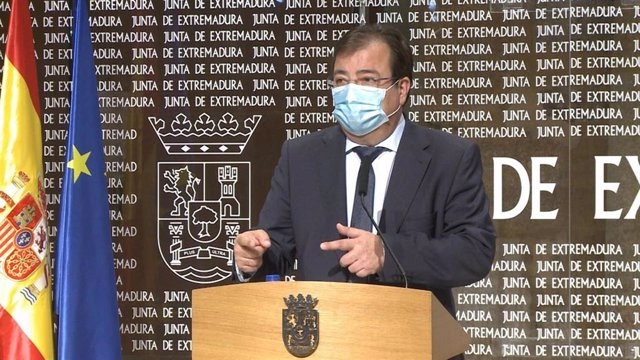 Vara en rueda de prensa tras la reunión de Pedro Sánchez con presidentes autonómicos