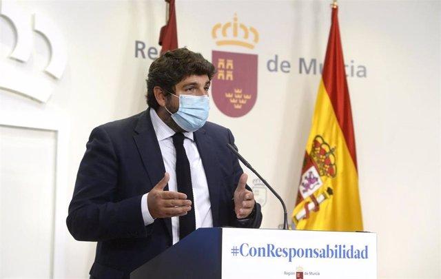 Nota / López Miras Anuncia 5 Millones De Euros En Ayud As Para Cubrir Tasas Locales Y Costes Fijos Que Asfix Ian En Estos Momentos A La Hostelería