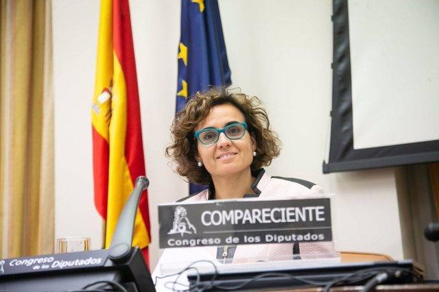 La portavoz del PP en el Parlamento Europeo, Dolors Montserrat, comparece en el Congreso