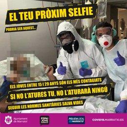 Campaña de concienciación sobre el coronavirus del Ayuntamiento de Marratxí.