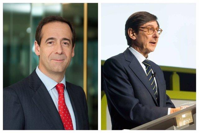 Gonzalo Gortázar, consejero delegado de CaixaBank (izq), y José Ignacio Goirigolzarri, presidente de Banki (der)