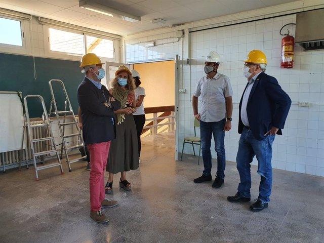 Josep Bargallló ha visitat l'institut Ribera d'Agramunt.