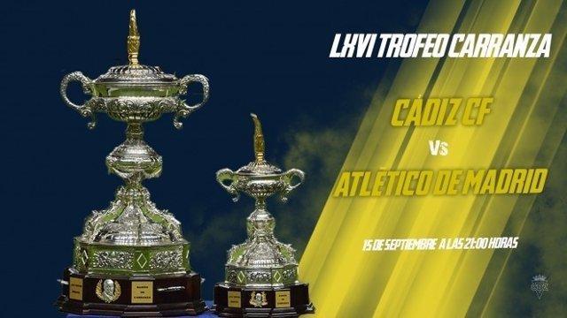 Fútbol.- El Atlético de Madrid, invitado en la LXVI edición del Trofeo Carranza