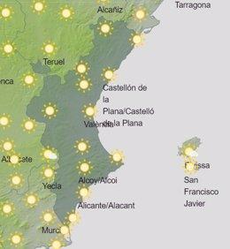 El tiempo en la Comunitat Valenciana para este sábado 5 de septeimbre