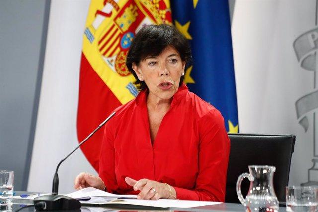 La ministra d'Educació i Formació Professional, Isabel Celaá
