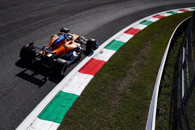 Fórmula 1/GP Italia.- Sainz saldrá tercero en Monza; Hamilton lidera el dominio