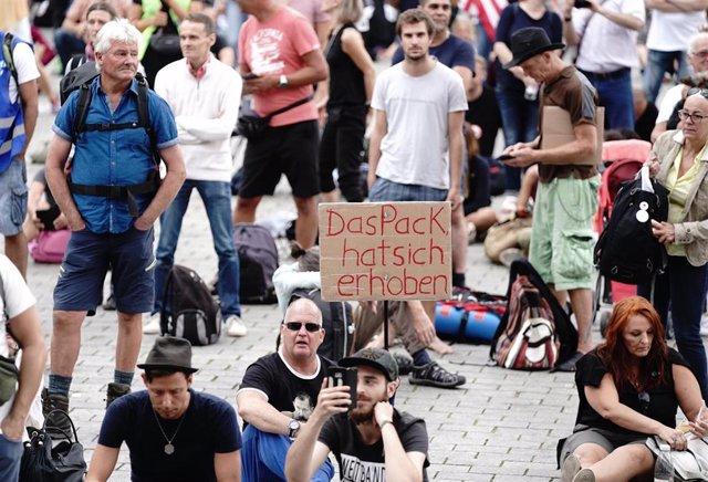 Protesta contra las medidas frente al coronavirus en Berlín