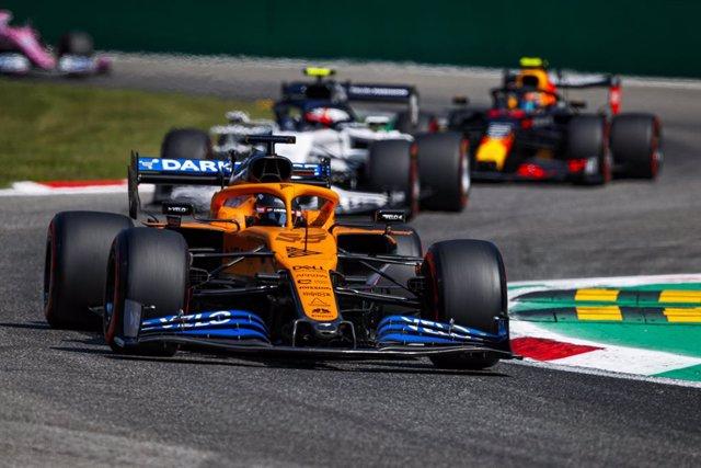 AV.- Fórmula 1/GP Italia.- Sainz roza el triunfo en Monza con una histórica segu