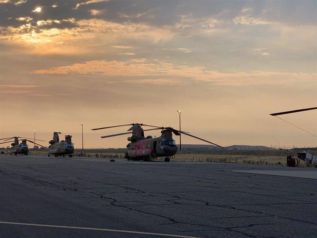 Helicópteros 'Chinook' de la Guardia Nacional de California, EEUU