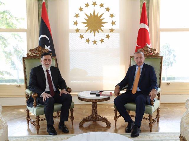 Libia/Turquía.- Erdogan se reúne de nuevo en Estambul con el primer ministro del