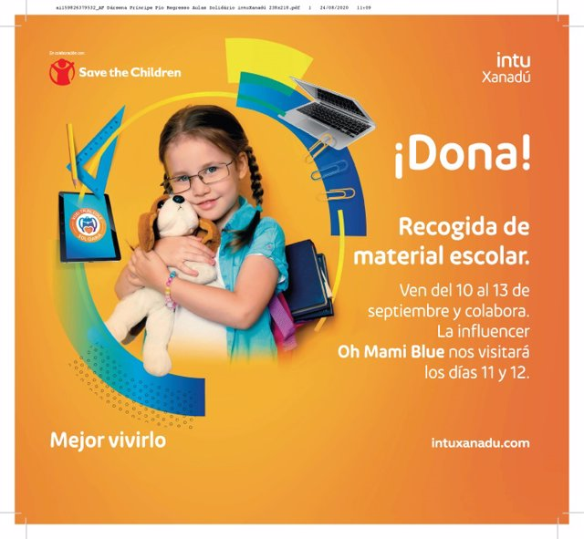 Vuelta al cole solidaria con Save the Children e intu Xanadú