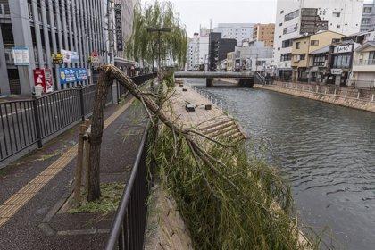 Clima.- Cuatro desaparecidos y más de 50 heridos por el impacto del tifón 'Haishen' en el sur de Japón