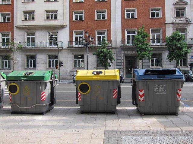 Contenedores de basura en Santander