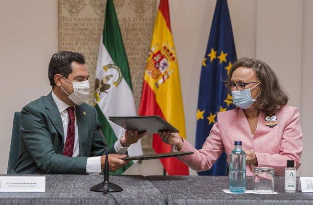 Moreno propone impulsar y liderar desde Andalucía un Foro Iberoamericano de Regi