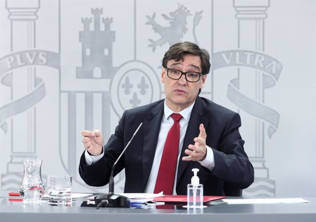 El ministre de Sanitat, Salvador Illa. La Moncloa, Madrid (Espanya), 4 de setembre del 2020.