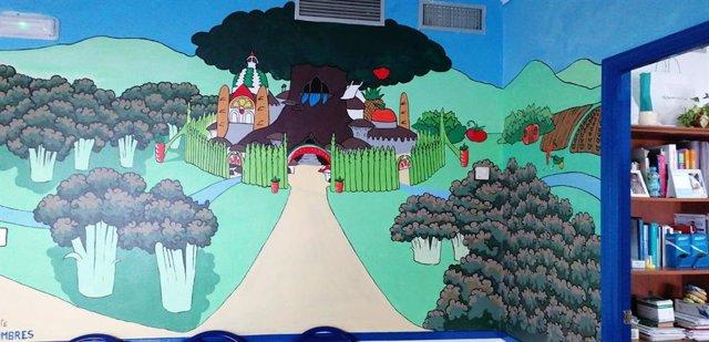 Espacio habilitado para la extracción de sangre infantil en el centro de salud de Ubrique