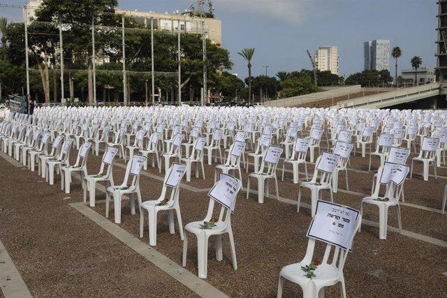 Homenajes a las vícimas del coronavirus en Tel Aviv